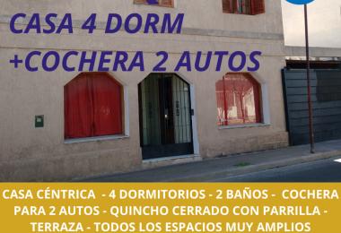SE ALQUILA CASA 4 DORMITORIOS CENTRO SAN LUIS